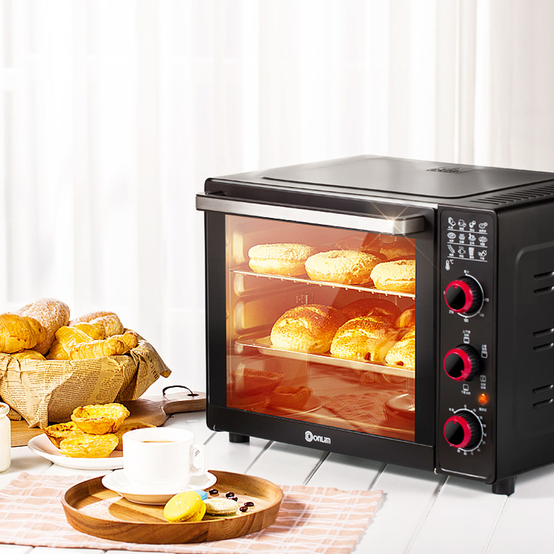 360D Rotary Fully Automatic Roasting Oven 33L 4 Heating Tube Up Down Independent Heating Electric Ovens Dessert Baking Machine