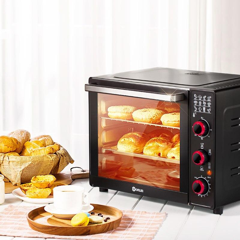 Four à rôtir rotatif entièrement automatique 360D 33L 4 Tube de chauffage vers le bas four électrique de chauffage indépendant Dessert Machine de cuisson