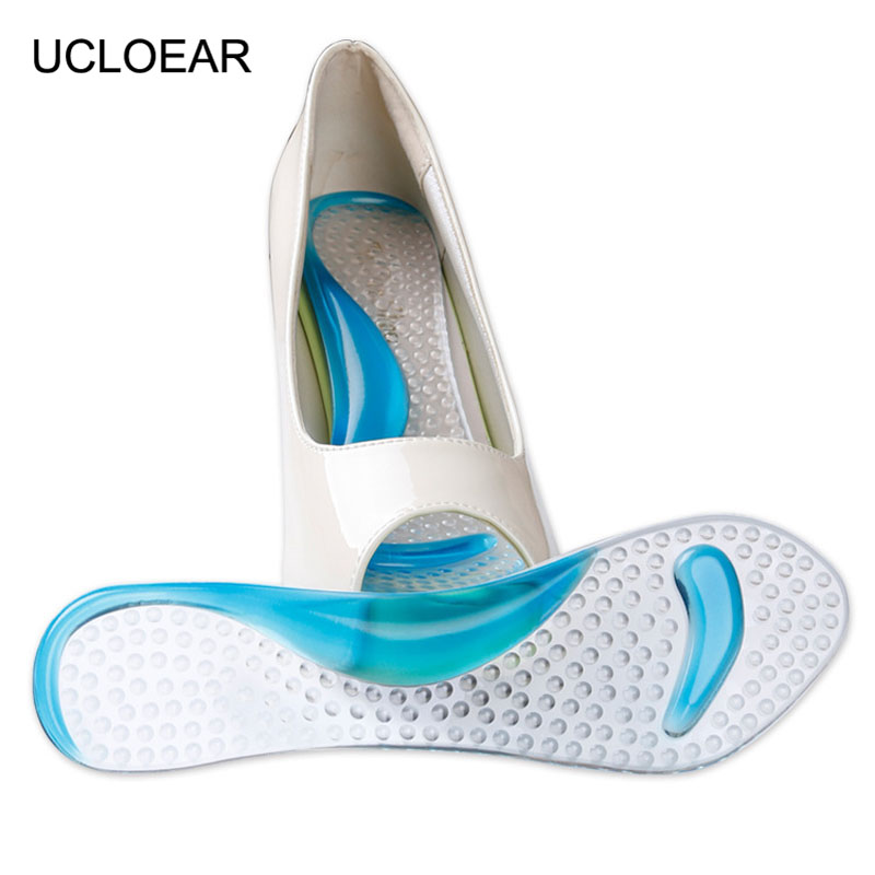 Women High Heels Gel 7/10 Shoe Insoles Cushions Pads Arch Support Orthotic Feet Care Massage Soft Thickening Insoles XD-017