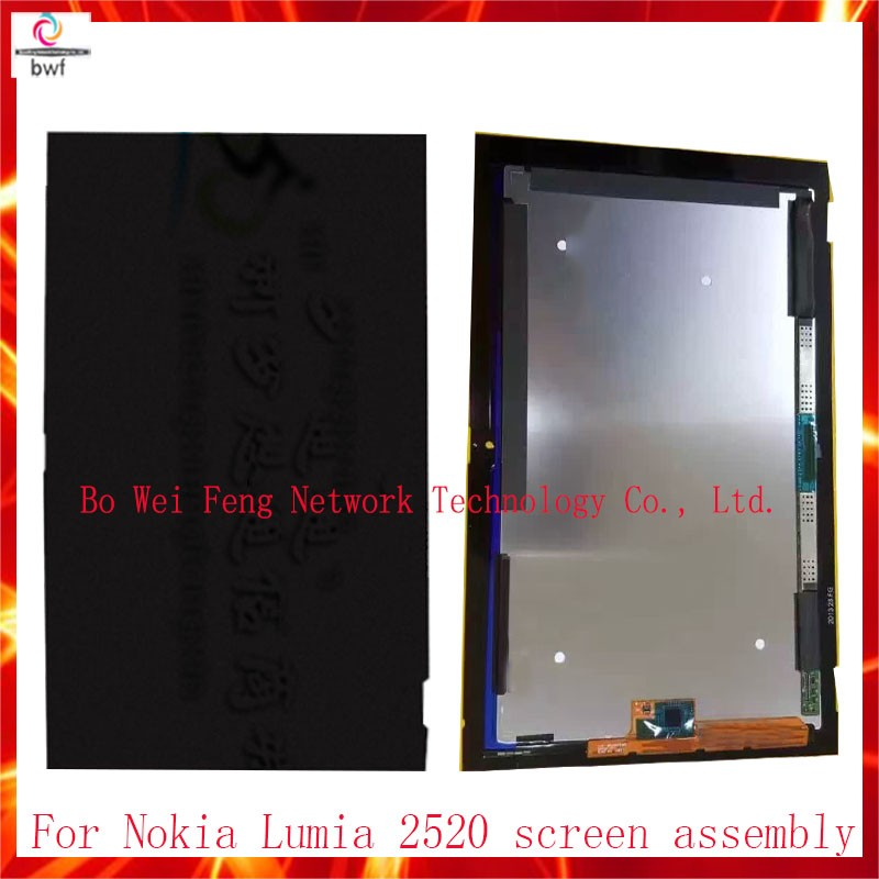 ФОТО 10Pcs DHL 100%Tested Tablet PC For Nokia Lumia 2520 LCD Display Panel Screen+Touch Digitizer Glass Screen Assembly Free Shipping