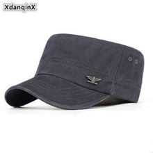 2017 Summer Adult Men Cotton Material Military Hats Outdoors Casual Fashion Balaclava Cap Adjustable Vintage Fishing Dad