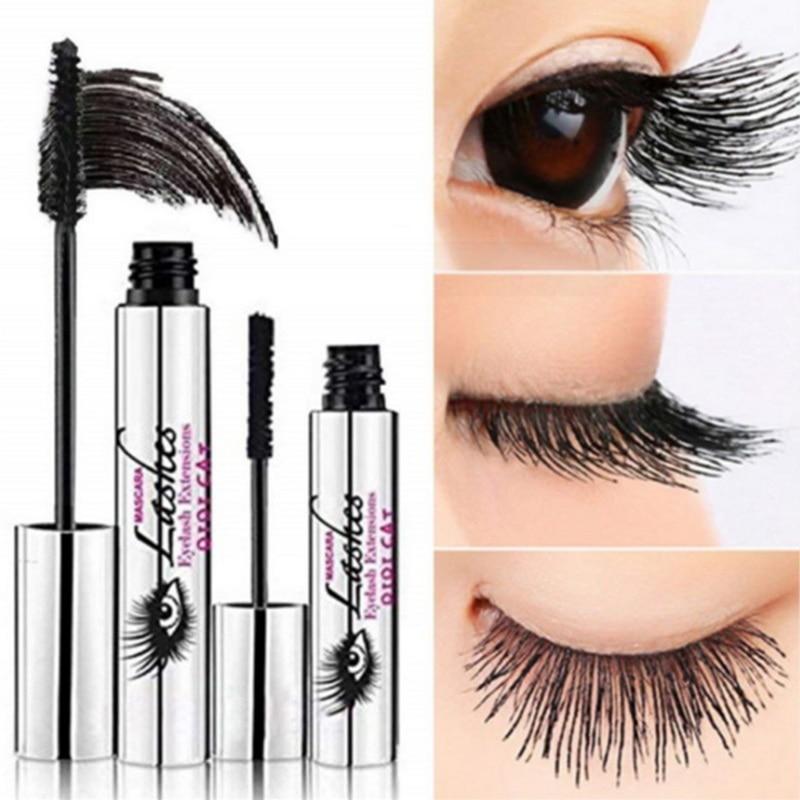 2465602e2c1 4D Silk Fiber Lash Mascara Curling Volume Black Waterproof Liquid Rimel 3d  Fiber