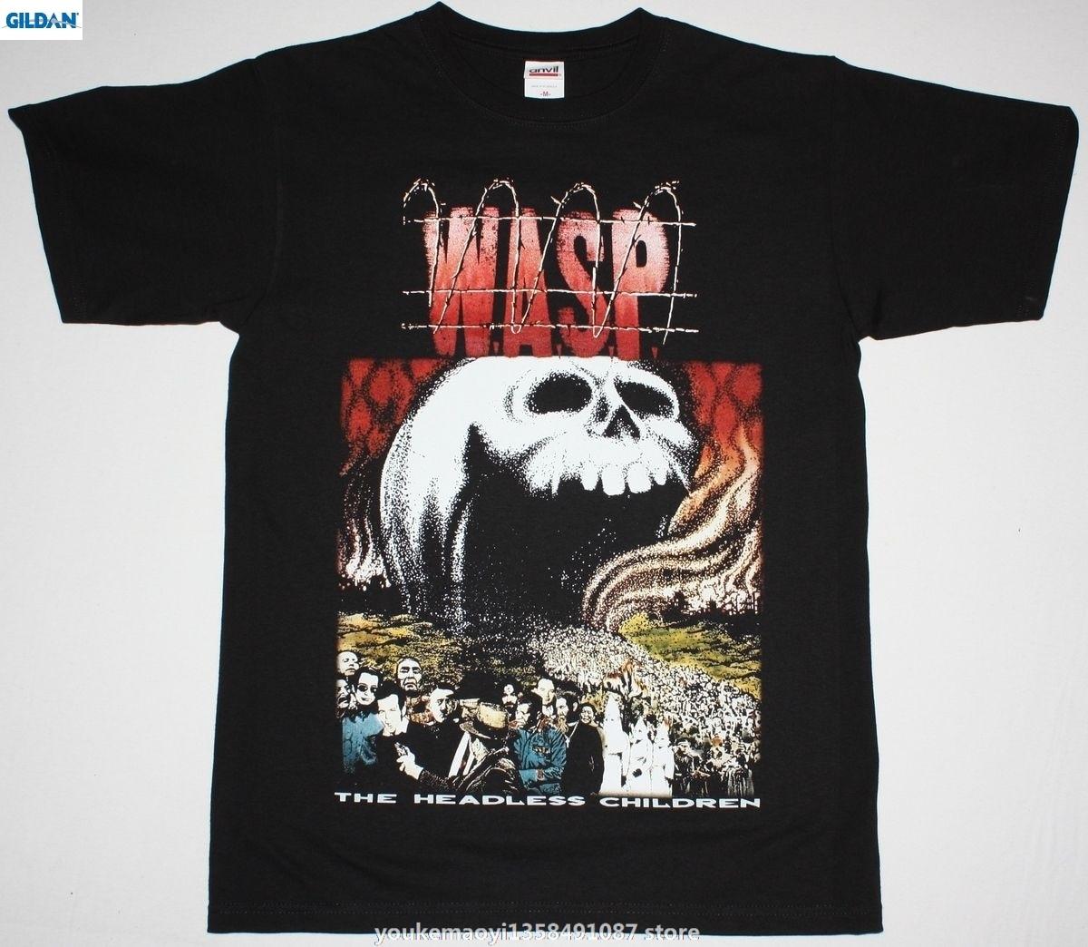 GILDAN W.A.S.P. THE HEADLESS CHILDREN89 WASP HEAVY METAL BAND RATT NEW BLACK T-SHIRT New Brand New Fashion MenS T Shirt