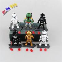 6pcs/set Movie Star Master Yoda Vader Dv Storm Trooper Model Pvc Toy Action Figure Decoration For Collection Gift