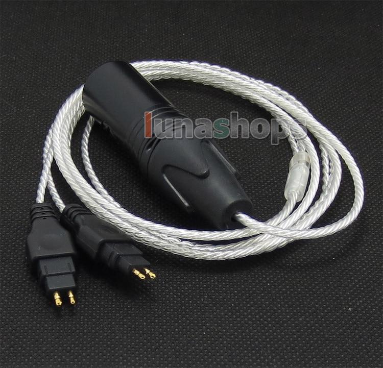 4pin XLR Male PCOCC + Silver Plated Cable for Sennheiser HD525 HD545 HD565 HD650 HD600 HD580 LN004741 120cm pure pcocc earphone cable pep insulated for sennheiser hd25 1 sp hd650 hd600 hd580 hd525 hd565 headphone ln004887