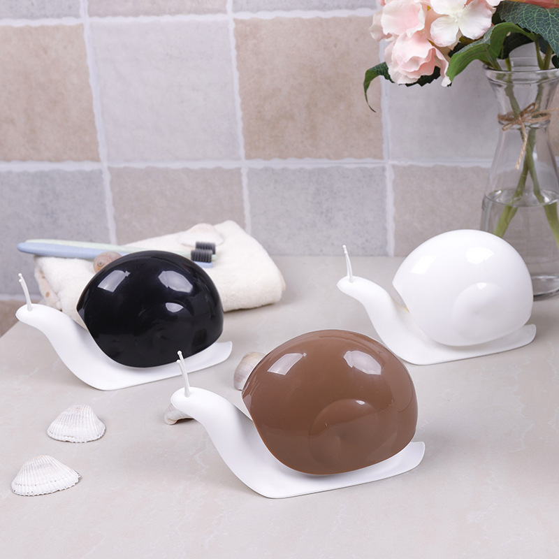 Dispensers Storage-Box Bathroom-Decor Squeeze-Type Automatic Cartoon for Snail-Shape