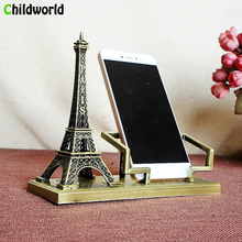 Eiffel Tower Phone Holder Home Decoration Accessories Crafts Alloy miniature figurines Furnishings Gifts Office Desk Decoration alloy quartz watch with eiffel tower carve