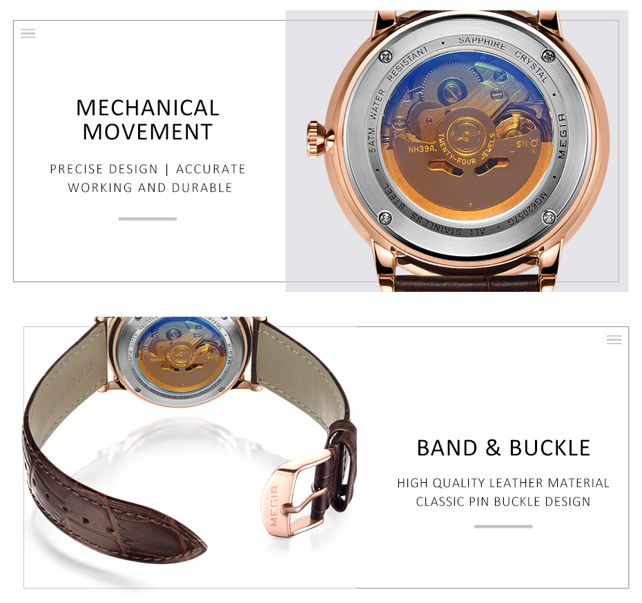 HTB1wpM.JACWBuNjy0Faq6xUlXXaf MEGIR Automatic Mechanical Watches Top Brand Luxury