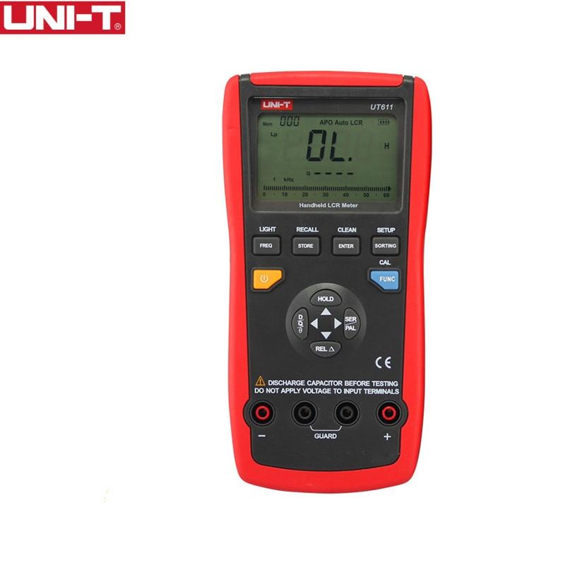 UNI T UT611 LCR Meters electronica elektronik electronics Inductance Capacitance eletronicos Resistance Phase Angle Multimeter цена