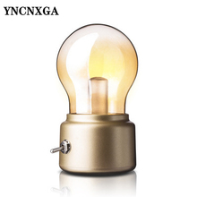 Retro Bulb light USB Charging led Night light metal glass Ambient Light  Energy saving light bulb