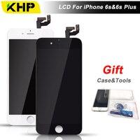 100% KHP AAAA Calidad 6 S Plus LCD Para el iphone 6 S Plus 3D Pantalla LCD Táctil Digitalizador Reemplazo de la Pantalla Táctil Con El Caso