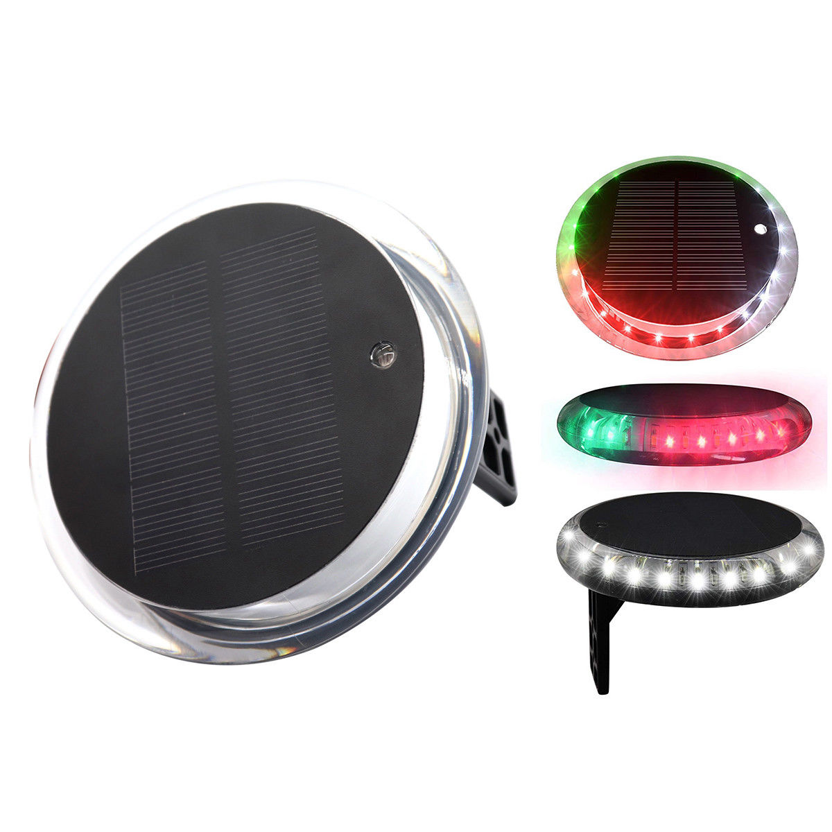 Solar Powered 6 Modes Navigation Anchor Lights Deck Waterproof Remote Marine
