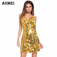 Summer Sexy Sequin Dress Glitter Mini Tight Backless Dress Clubwear Women  Black Silver Gold Trending Party 17420ecf54ed