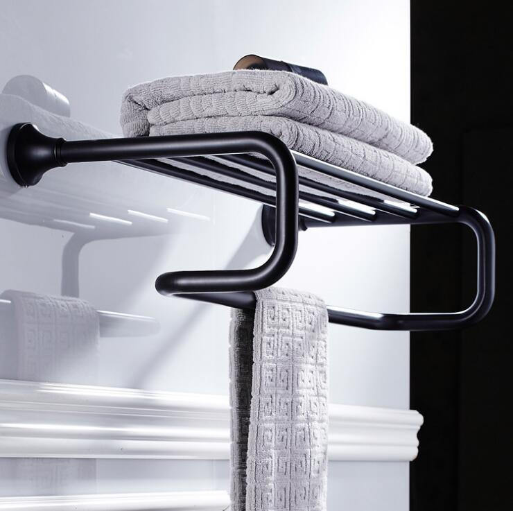 Antique Fixed Bath Towel Holder Wall Mounted Towel Rack 60 cm Brass Towel Shelf Bathroom Accessories Luxury Brass Towel Rail antique fixed bath towel holder wall mounted towel rack 60 cm brass towel shelf bathroom accessories luxury brass towel rail