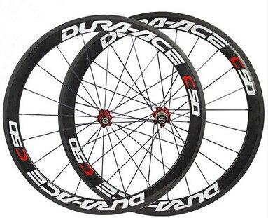 Buen Precio China oem pintura pegatina carbono bicicleta clincher ruedas basalto freno superficie carretera bicicleta wheelset 50mm Cubo de cerámica