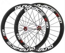 Dobra cena chiński oem farby naklejki węgla rower clincher koła bazalt hamulca powierzchni drogi rowerowe koła 50mm ceramiczne piasty