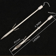 High Quality 1/2/3/5PC Stainless Steel Bow Fish Fishing Slingshot Broadheads Arrowhead Hunting Points Practice Tips