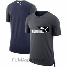 2018 nueva llegada Original PUMA clásicos negro Logo Puma hombre de prisa  Collar Camisetas manga corta f99d1e1c41101