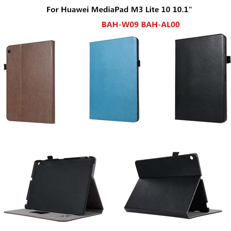 Business PU Leather Case Luxury Flip Stand Cover Case for Huawei Mediapad M3 Lite 10.1 BAH-W09 BAH-AL00 ( M3 Lite 10 ) triangle stand cover case for huawei mediapad m3 youth lite 8 cpn w09 cpn al00 8 free gifts