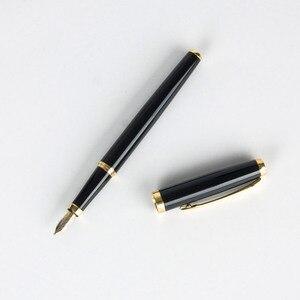 Image 4 - Wingsung מותג מתכת עט נובע סטודנטים משרד מכתבים יוקרה נוסף בסדר 0.5mm/1.0 ציפורן קליגרפיה דיו עטי מתנה חליפה