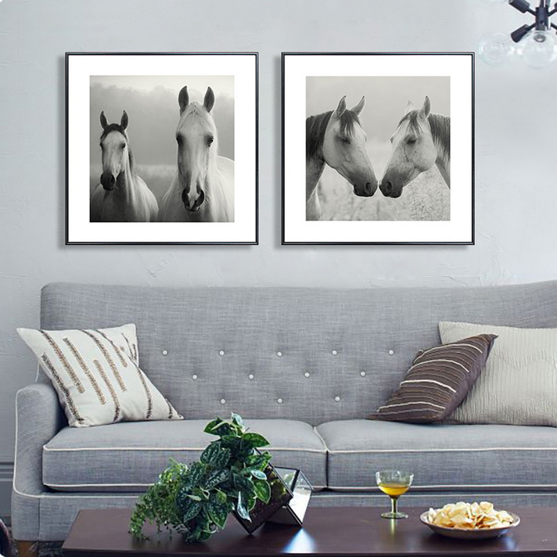 Holland Leinwand Malerei moderne Ölgemälde Tier Pferd Kopf - Wohnkultur - Foto 6