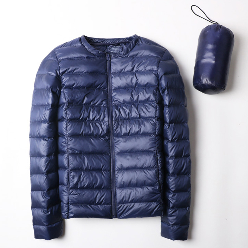 2019 New Ultra Light Down Jacket Collarless Coat With Zipper Woman Feather Outwear Jacket Women Slim Female Windbreaker