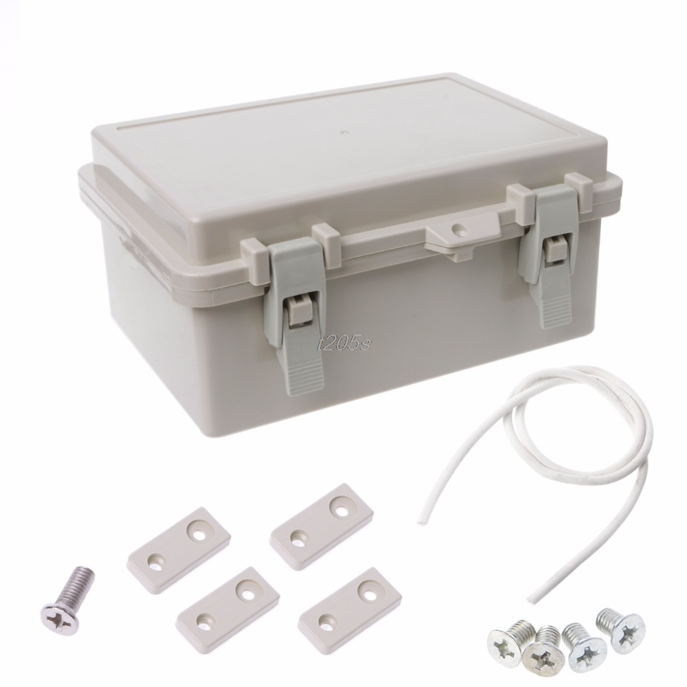 IP65 Waterproof Electronic Junction Box Enclosure Case Outdoor Terminal Cable Electrical Equipment Supplies T12 Drop ship waterproof black ip68 plastic cable wire connector gland electrical 4 cable junction box with terminal