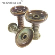 save tobacco bowl hole ceramics pretty head shisha narguile sheesha chicha narguile Arabia hookah accessories Tree Smoking Set