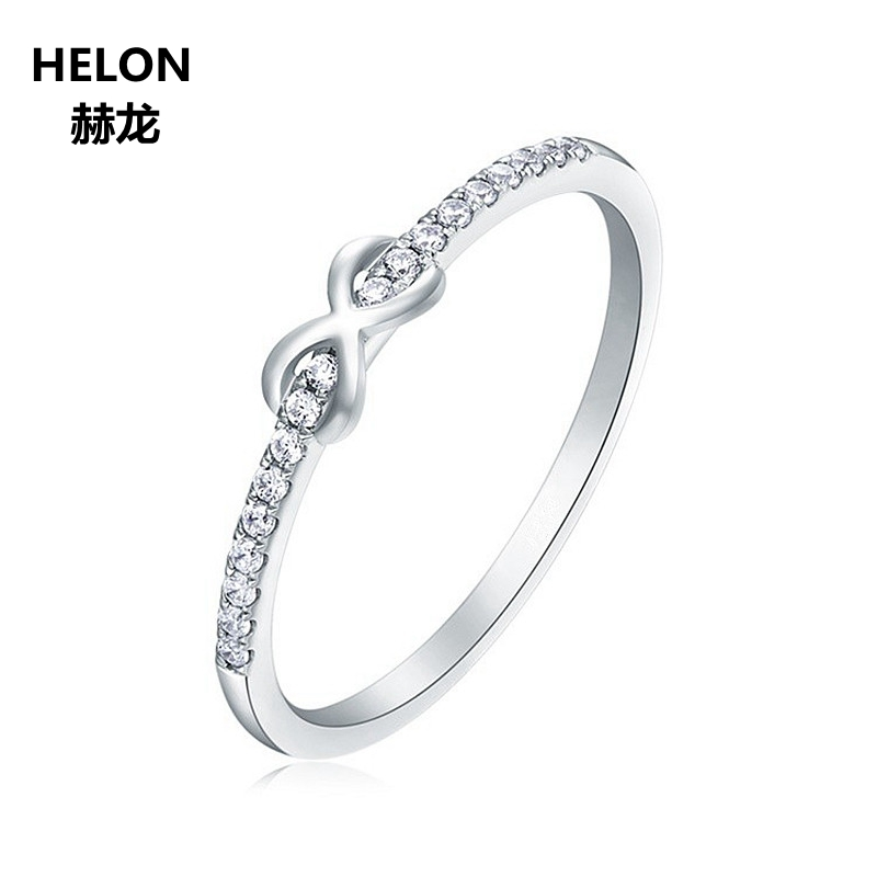Solid 14k White Gold SI/H Natural Diamonds Engagment Wedding Ring Anniversary Party Fine Jewelry TrendySolid 14k White Gold SI/H Natural Diamonds Engagment Wedding Ring Anniversary Party Fine Jewelry Trendy