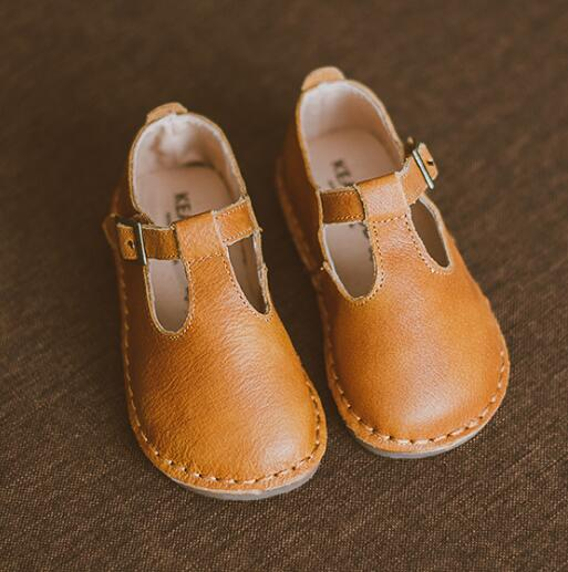 2019 superior quality Genuine Leather Children Casual shoes T-bar baby Girls shoes Flat Princess mary jane shoes size 21-302019 superior quality Genuine Leather Children Casual shoes T-bar baby Girls shoes Flat Princess mary jane shoes size 21-30
