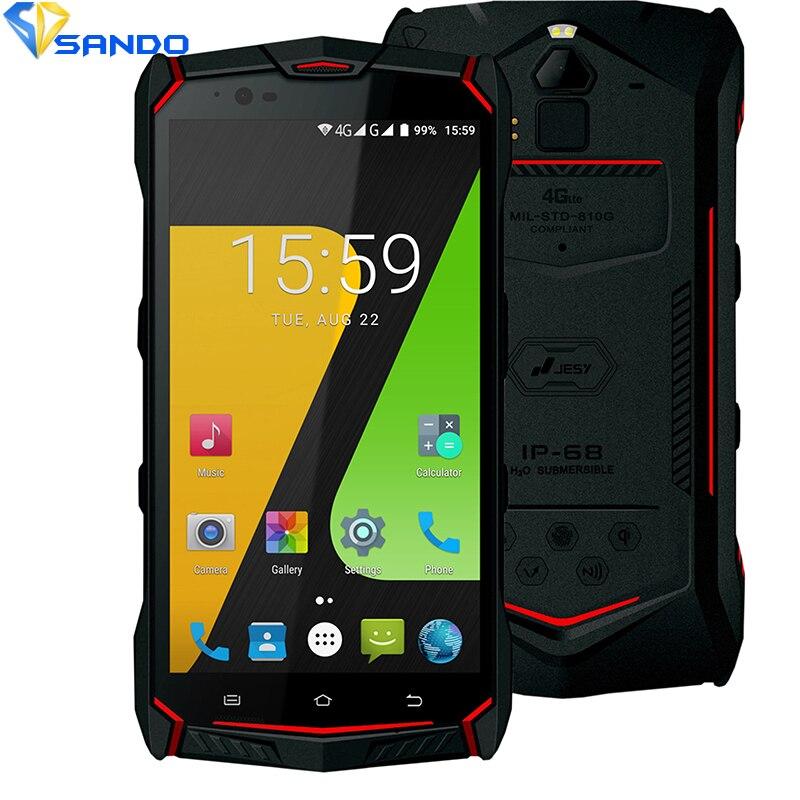 JESY J9S Étanche nouveau mobile téléphone R1 IP68 4G Antichoc 4G RAM 64 GB ROM Smartphone 5.5 NFC D'empreintes Digitales PTT IP67 6150 mAh D1