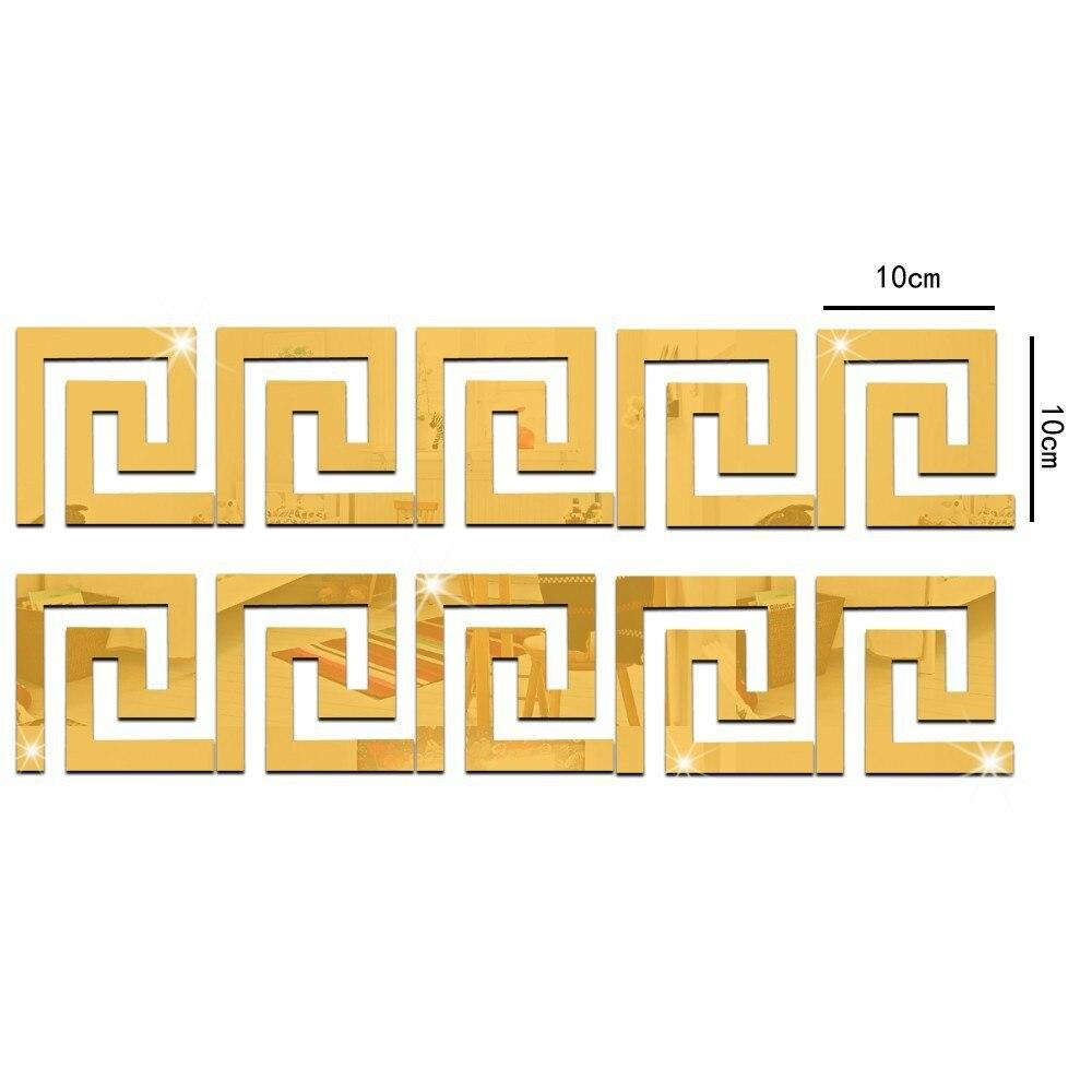 Fly Eagle ] Factory Price! 10pcs Modern Geometric Mirror Like ...