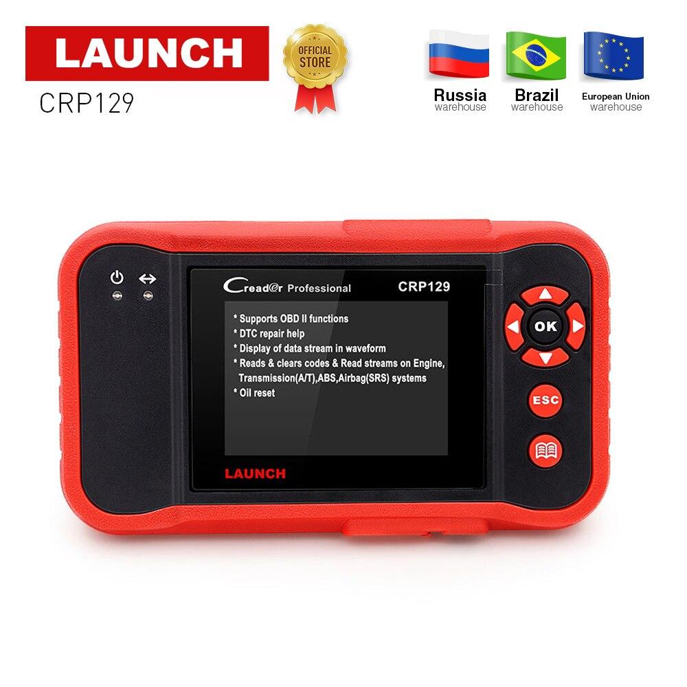 Lancement Creader CRP129 Professionnel obd2 EOBD Scanner De Diagnostic ENG/À/ABS/SRS + EPB SAS remise D'huile CRP 129 Auto Code Reader outil