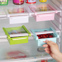 Creative Refrigerator Storage Box Fresh Spacer Layer Storage Rack Pull-out Drawer Fresh Spacer Sort Kitchen Accessories Supplies