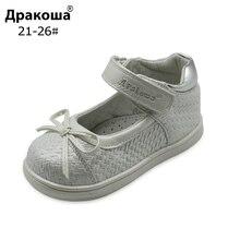 Apakowa летние детские сандалии, обувь с бантом для маленьких девочек; босоножки с поддержкой взъема стопы девочки сандалии; туфли на плоской подошве для девочек