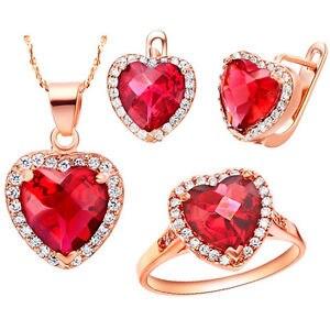 Coeur de l'océan pendentif bague boucles d'oreilles collier cadeau bijoux ensembles costume sur mesure perles africaines argent indien dubaï