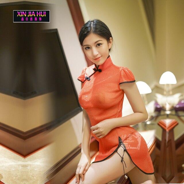 สไตล์ Cheongsam จีน Nightdress ลูกไม้ใหม่ผู้หญิงชุดนอนชุดชั้นในเซ็กซี่ชุดชั้นในเซ็กซี่ชุดชั้นในเซ็กซี่ชุดเซ็กซี่ร้อน