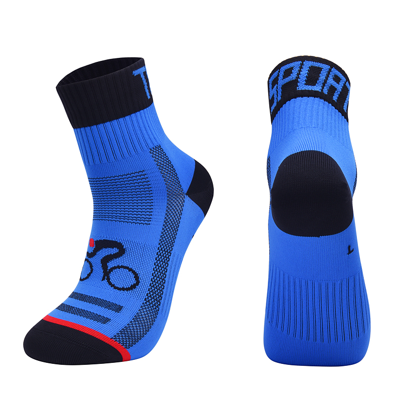 2019 New Men Women Cycling Sock Breathable Outdoor Basketball Socks Protect Feet Wicking Bike Running Football Sport Socks