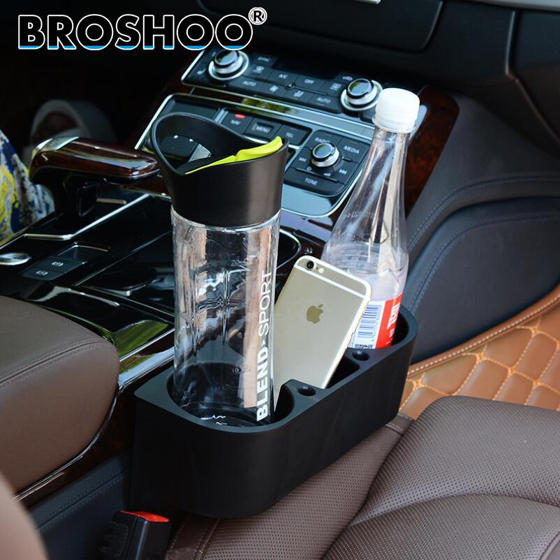 BROSHOO Car Styling Drink Holder Cup Stands Seat Side Auto Swivel Mount Holders Travel Drinks Cup Coffee Bottle Table Stand