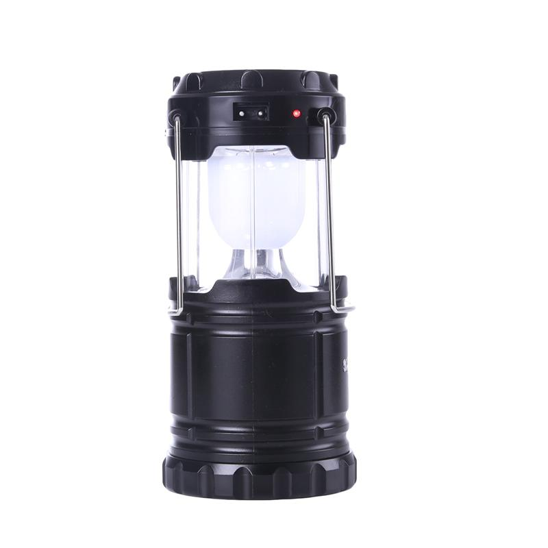Outdoor Camping Lighting LED Hand Lamp Collapsible Solar Camping Lantern Tent Lights Durable Portable Fishing Hanging Lighting