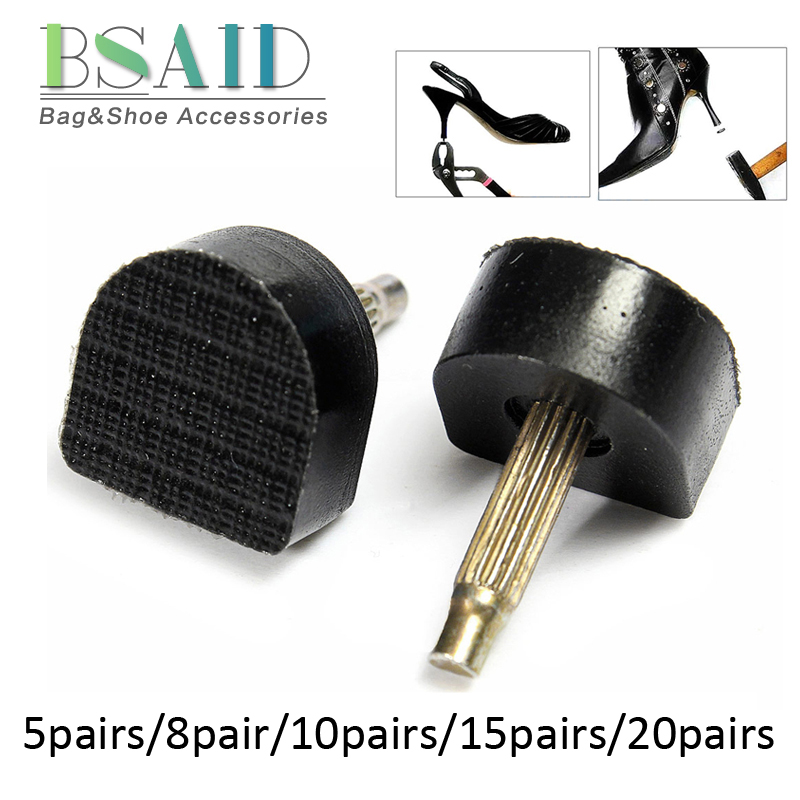 BSAID 1-10 pair/set High Heel Repair Tips Pins For Women Shoes High Heel Tips Taps Dowel Lifts Replacement Heel Stoppers Protect