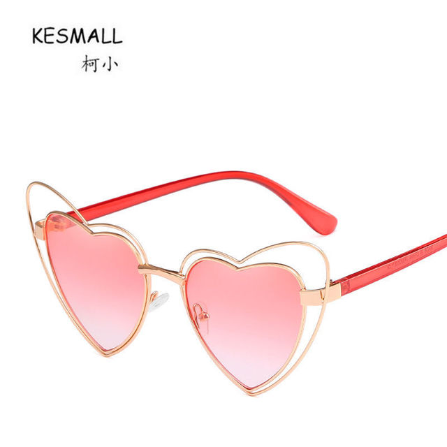 de5a7990119 KESMALL New Brand Designer Eyeglasses Mirror SunGlass Women Heart Shaped  Sunglasses Men Fashion Black Driving Sun glasses XN50T