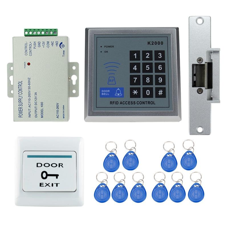 best price 125khz rfid door access control system full kit set with electric strike lock digital. Black Bedroom Furniture Sets. Home Design Ideas