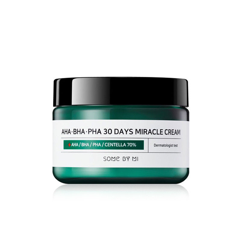 SOME BY MI AHA BHA PHA 30 Days Miracle Cream 50ml Sebum Control Moisturizer Face Cream Acne Treatment Whitening Cream SOMEBYMISOME BY MI AHA BHA PHA 30 Days Miracle Cream 50ml Sebum Control Moisturizer Face Cream Acne Treatment Whitening Cream SOMEBYMI