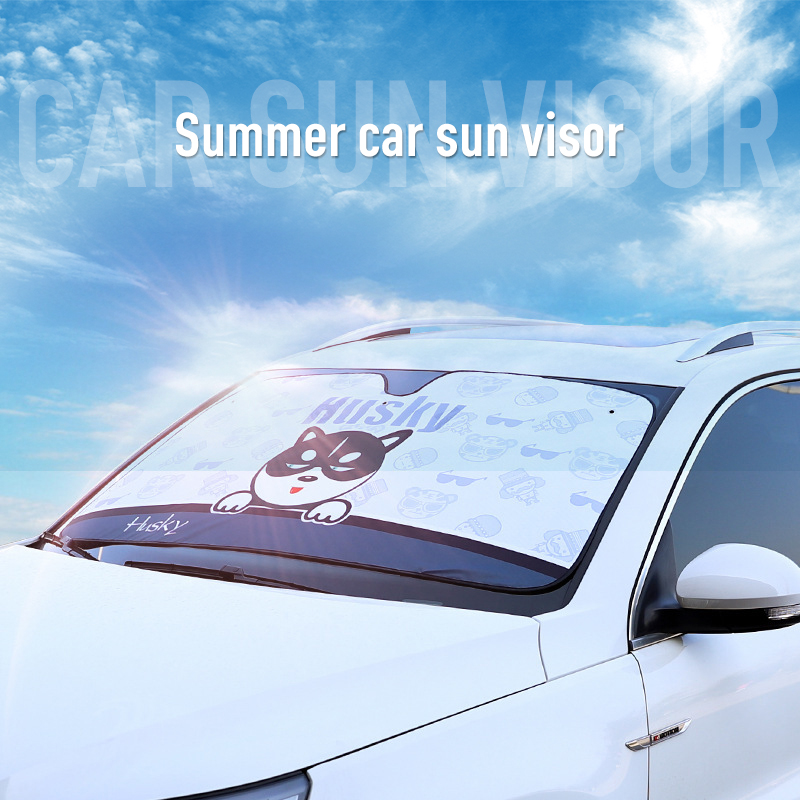 Cartoon Window Windshield Sunshade Car Windscreen Cover Sun Shade Car Sun Visor Car-covers Exterior Accessories Auto Parts
