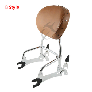 """Image 4 - Motorcycle 12"""" Backrest Sissy Bar With Pad Luggage Rack For Indian Chief Classic Vintage Chieftain 2014 2018 Roadmaster 14 Style"""