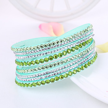 Crystal Multi-Layer Wrap Bracelets Bracelets Jewelry New Arrivals Women Jewelry Metal Color: light green