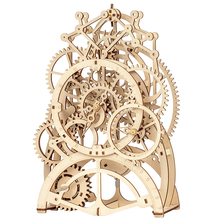 Wooden Jigsaw Puzzle Toys 3-D Hand-Assembled Pendulum Clock Accessary Hand Eye Coordination Start Working With Your Brain Toy цены