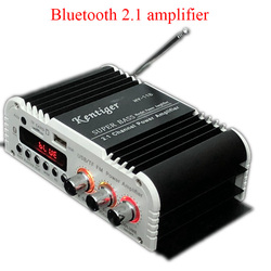 Bluetooth Kentiger-HY-118 2.1+1 4 Channel Output Subwoofer TF\USB\FM Audio Power Amplifier Stereo Amplificador Super Bass Dac