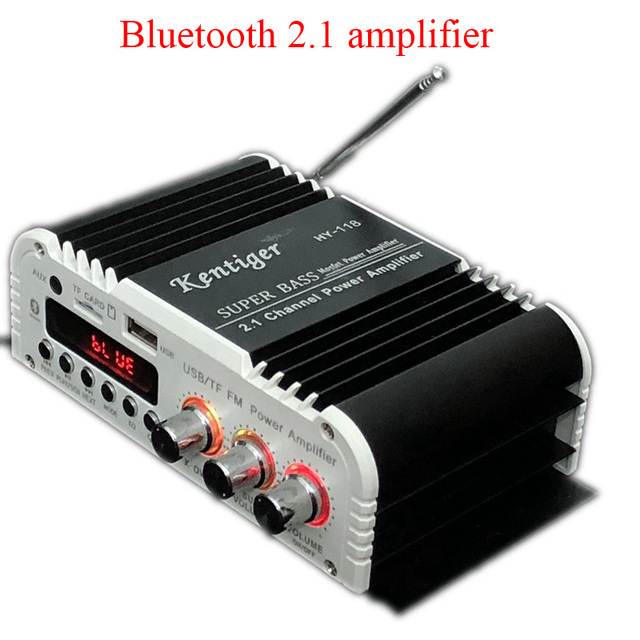 Bluetooth Kentiger-HY-118 2.1+1 4 Channel Output Subwoofer TFUSBFM Audio Power Amplifier Stereo Amplificador Super Bass Dac